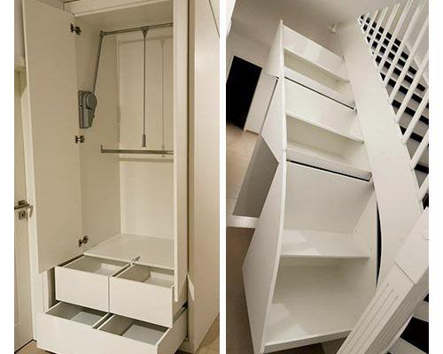 Interior Design: Funktioneller Schrank unter Treppe